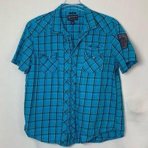 EUC American Rag pearl snap casual shirt